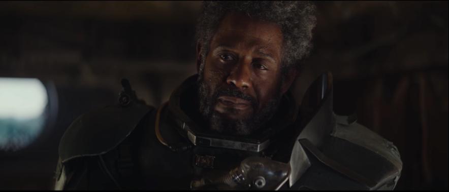 Forest Whitaker i rollen som den rabiate leder Saw Gerrera.